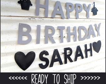 Happy Birthday Custom Name ∙ Happy Birthday Banner ∙ Birthday Party ∙ Quarantine Birthday Party ∙ Cupcakes ∙ Personalized Banner
