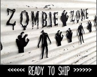 Zombie Banner ∙ ZOMBIE ZONE ∙ Walking Dead ∙ Halloween Decor ∙ Zombie Garland Party Photo Props ∙ Walker ∙ Undead Party Decor ∙ Walktober
