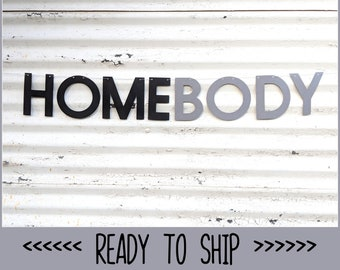 HOMEBODY Banner ∙ Home Body Garland ∙ Homebody Sign ∙ Pandemic Decor ∙ Modern Decor ∙ Fireplace Decor ∙ Covid-19 Decor ∙ Safer at Home Sign