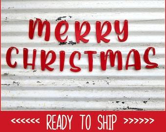 Christmas Banner ∙ Merry Christmas Sign ∙ Red Merry Christmas Banner ∙ X MAS Photo Prop ∙ Holiday Decor ∙ Christmas Decor  ∙ Family Photos