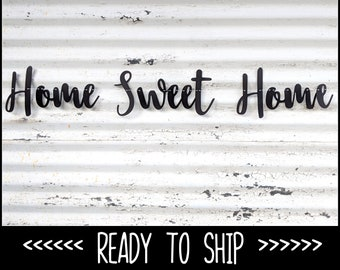 Home Sweet Home ∙ Rustic Sign ∙ Rustic Garland ∙ Fireplace Decoration ∙ Home Wall Hanging ∙ House Warming Gift ∙ New Start ∙ First Home