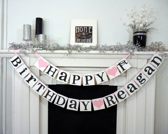 Happy Birthday Party Banner Sign Decorations Photo Prop Office Garland Boy Or Girl
