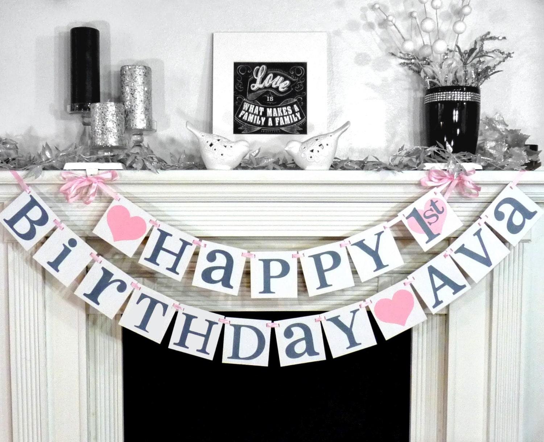 d5be1c4044e4 Happy Birthday   Birthday Party Banner   Sign   Happy Birthday