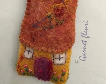 COTTAGE Noddy House - Fairy Cottage - Children's Gift - Bag Tag - New Home Gift - Zipper Charm - Nursery Gift - Australian Seller