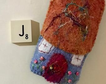COTTAGE GIFT -   Noddy House - FREE Shipping - Needle Felt Cottage - Fairy Cottage - Children's Gift - New Home Gift - Australian Handmade