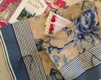 Table Runner -  'French Style Chic' - Table Accessory - Wedgewood Blue - Linen Rose - Australian Seller