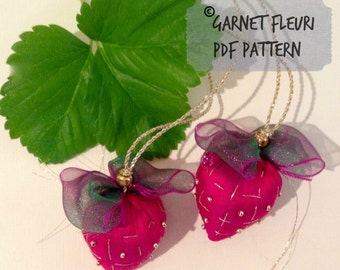 Silk Strawberry PDF Download - Etsy Studio Supply - Embroidery Pattern  - DIY Tutorial - Craft Pattern - Sewing Pattern - How to Sew