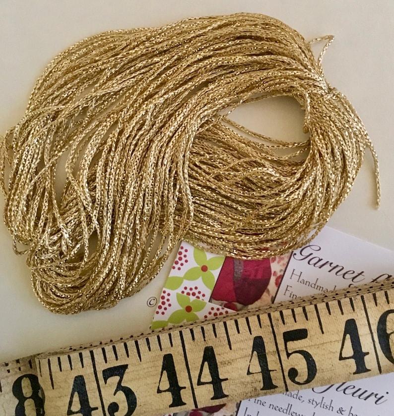 Aurora Vintage Gold Yarn  FREE SHIPPING  Cording Yarn  Gold image 0