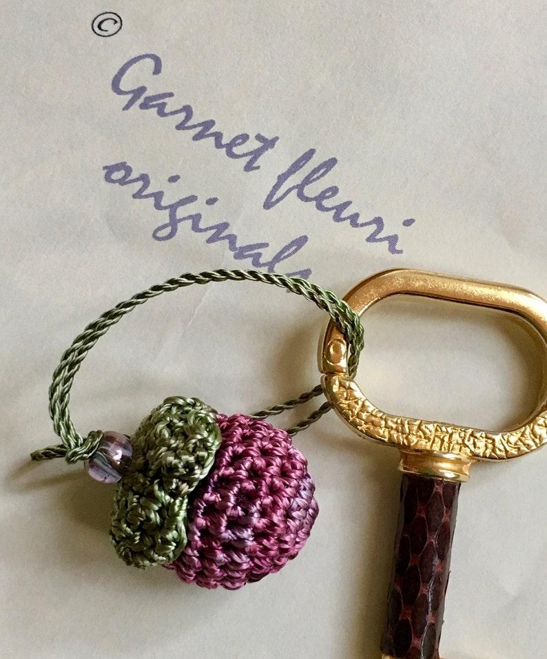 Crochet Berry Charm  FREE SHIPPING    Hand Crochet  Zipper image 0