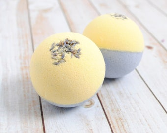 Lavender Chamomile Bath Fizzy, Relaxing Dream Time Bath Bomb Scented with Lavender and Chamomile
