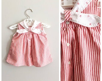 bbf1ad06fb304c Vintage Baby Dress, Red Dress, Carters Dress, Girls Dress, Family Picture  Dress, Baby Shower Gift, Star Dress, USA Dress, Nautical Dress,