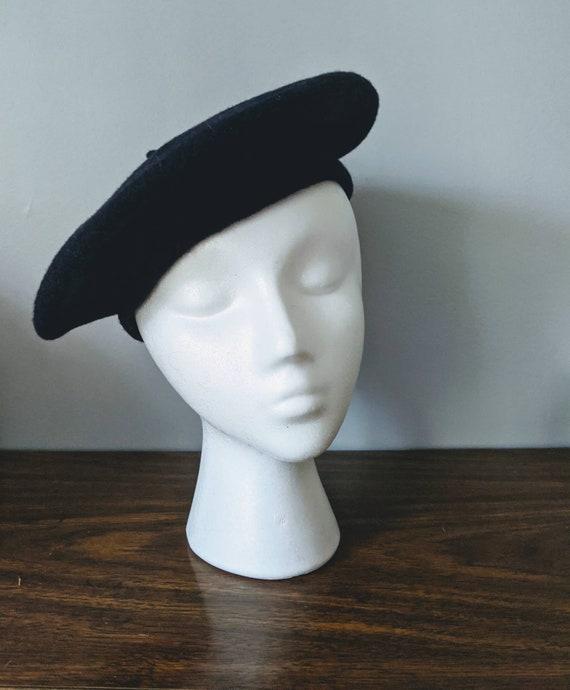 Vintage Navy Beret, Ruth Alan Beret, Beret Hat, Na