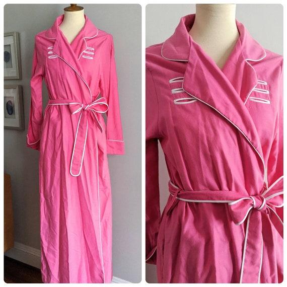 Vintage Robe, M, Bath Robe, Jodie Arden, Pink Robe