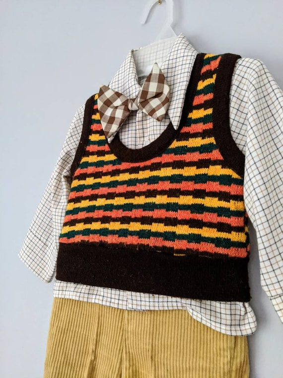 Vintage Boys Suit, 18-24 months, Christmas Outfit… - image 8