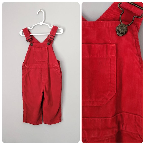Red Overalls, 18m, Corduroy Overalls,  Boys Overal