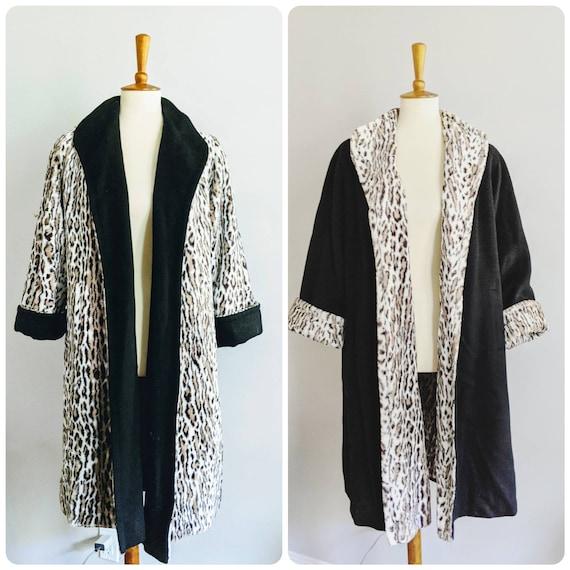 Vintage Swing Jacket, Leopard Print Jacket, Leopar