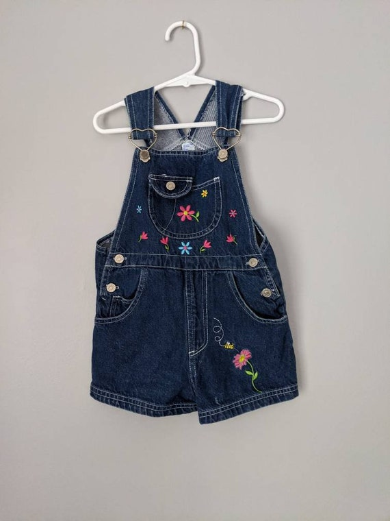 Vintage Overalls, 4T, Girls Overall Shorts, Vintag
