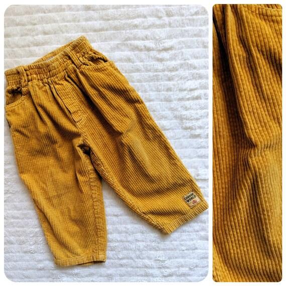 Vintage Corduroy Pants, 24m, Yellow Pants, Mustard