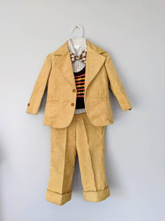 Vintage Boys Suit, 18-24 months, Christmas Outfit… - image 3