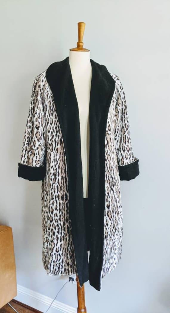 Vintage Swing Jacket, Leopard Print Jacket, Leopa… - image 5