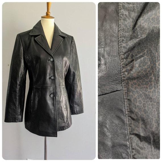Vintage Leather Jacket, Vintage Jacket, Black Jack