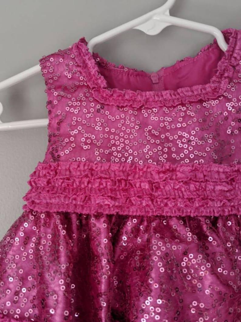 Pink Sequin Dress 12 m Easter Dress Holiday Dress Baby Dress Pink Dress Girls Dress Sequin Dress Birthday Dress Church Dress