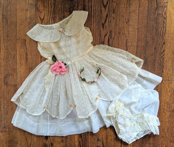 Vintage Ballet Costume, Easter Dress, 1950s Dress,