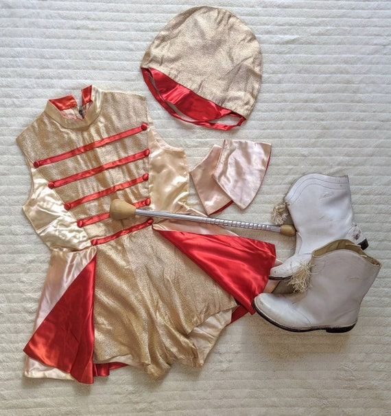 Vintage Majorette Costume, Majorette Costume, 1950