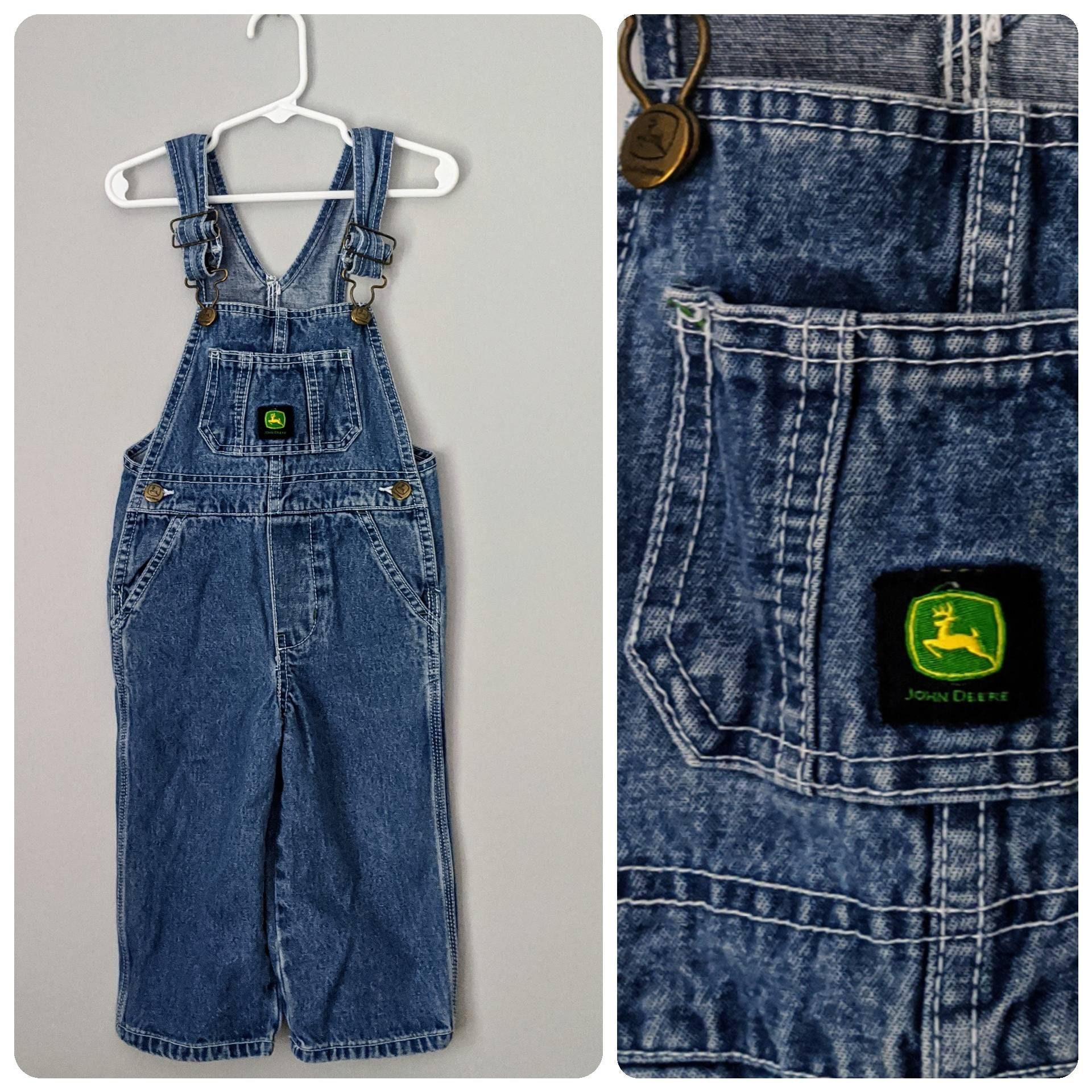 Vintage Overalls & Jumpsuits Denim Overalls, 2T, John Deere Baby Bib Deere, Vintage Boys Girls Overalls $0.00 AT vintagedancer.com