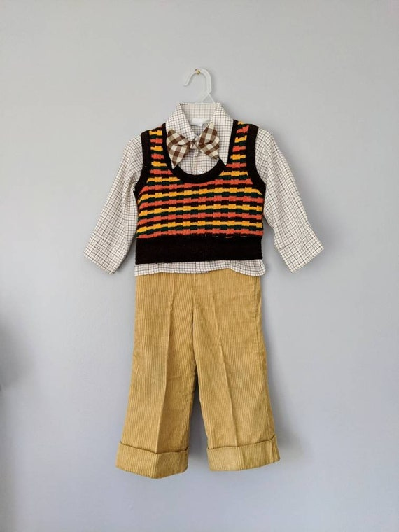 Vintage Boys Suit, 18-24 months, Christmas Outfit… - image 2