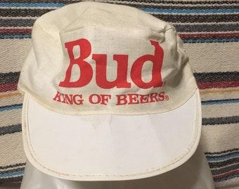 4daa8935f6f62 Bud King of Beers Painters Cap Vintage Budweiser Hat