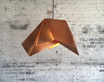 Copper Dotted Pendant Light