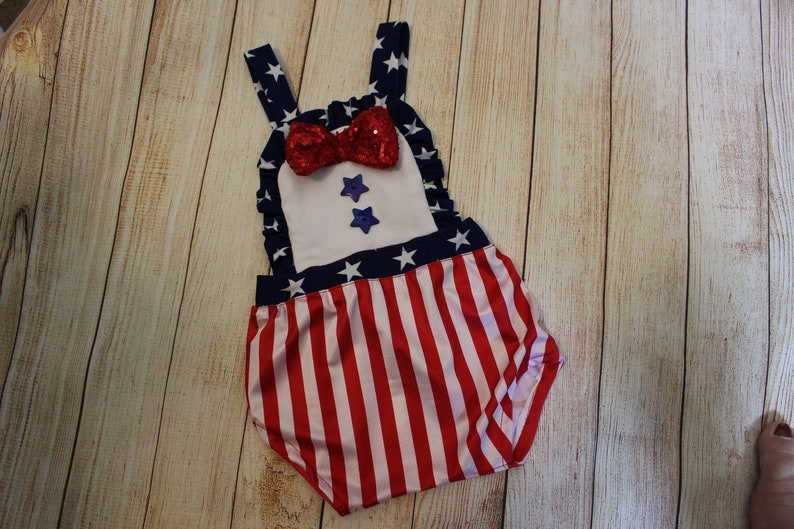 handmade july 4th newborn photography patriotic outfit costume newborn photo prop sitter cake smash baby clothes baby girl