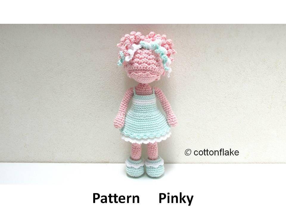 Patrón de Pinky muñeca amigurumi crochet amigurumi muñeca de | Etsy
