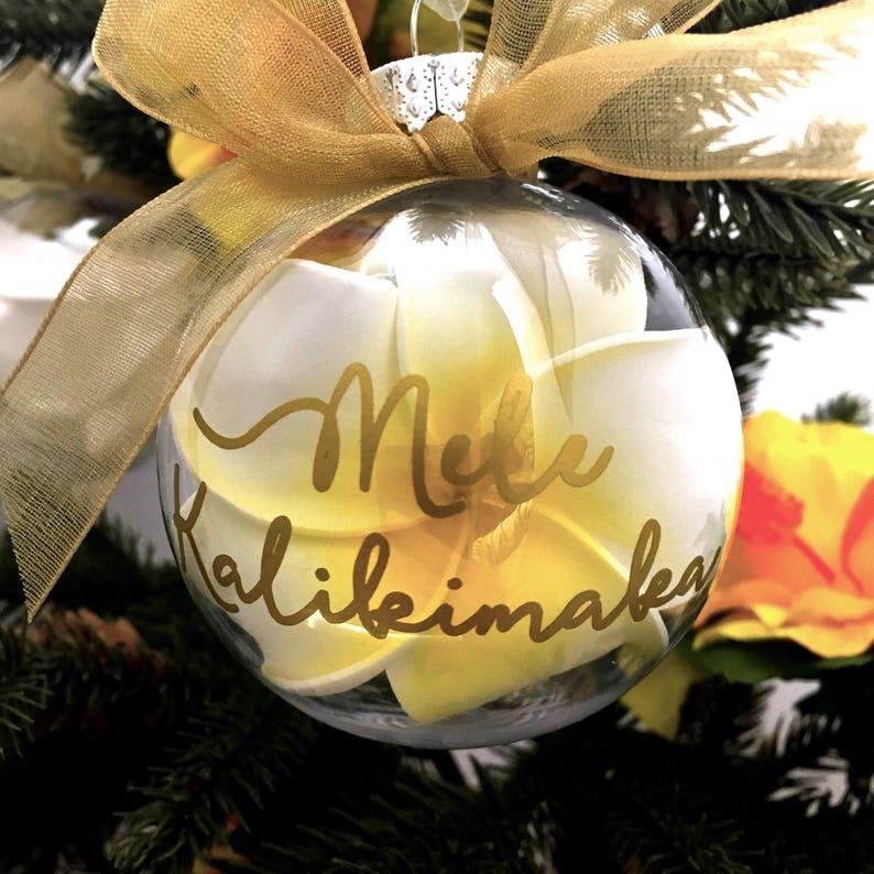 Mele Kalikimaka Ornament Personalized Hawaii Christmas | Etsy