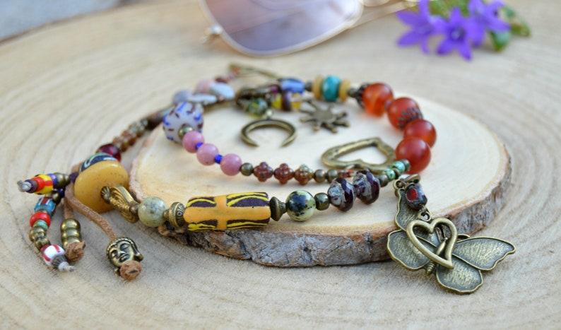 72b2aa24e47d Collar mariposa para mujer joyas de verano collar sol luna