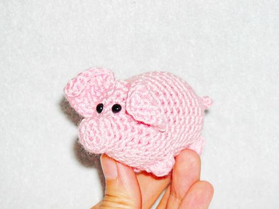 Small Pig Amigurumi Mini Crochet Stuffed Animal Pig Kawaii Car Etsy