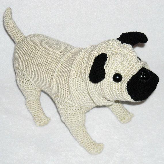 Pug Stuffed Animal Crochet Pug Dog Amigurumi Pug Crochet Pug Etsy