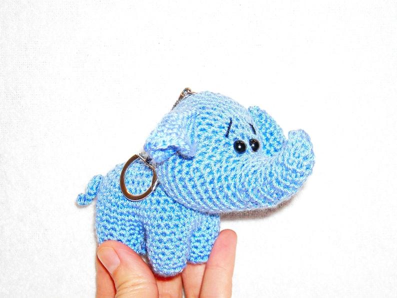 Crochet Keychain Elephants Amigurumi – Stricken Wolle | 596x794