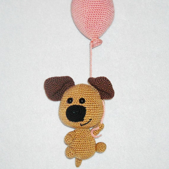crochet dog with balloon dog plush dog stuffed animal dog baby | Etsy