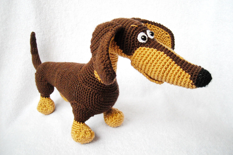 Crochet Dachshund Brown Amigurumi Dachshund Stuffed Animal Dog Etsy