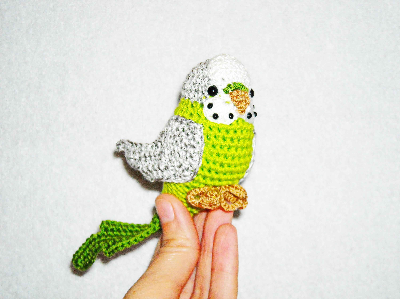 amigurumi parrot crochet budgerigar bird gift stuffed parrot | Etsy