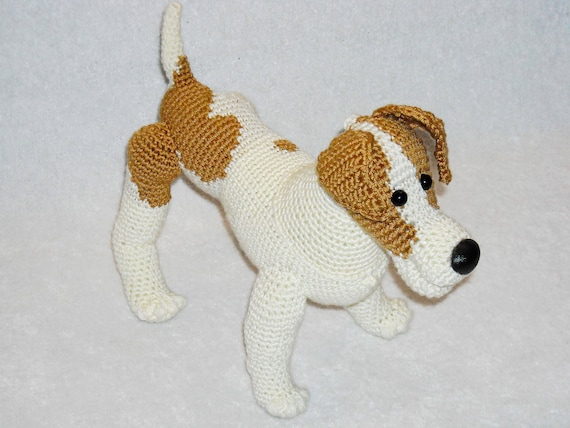 Häkeln Jack Russell Terrier Amigurumi Ausgestopfte Tiere Hund Etsy