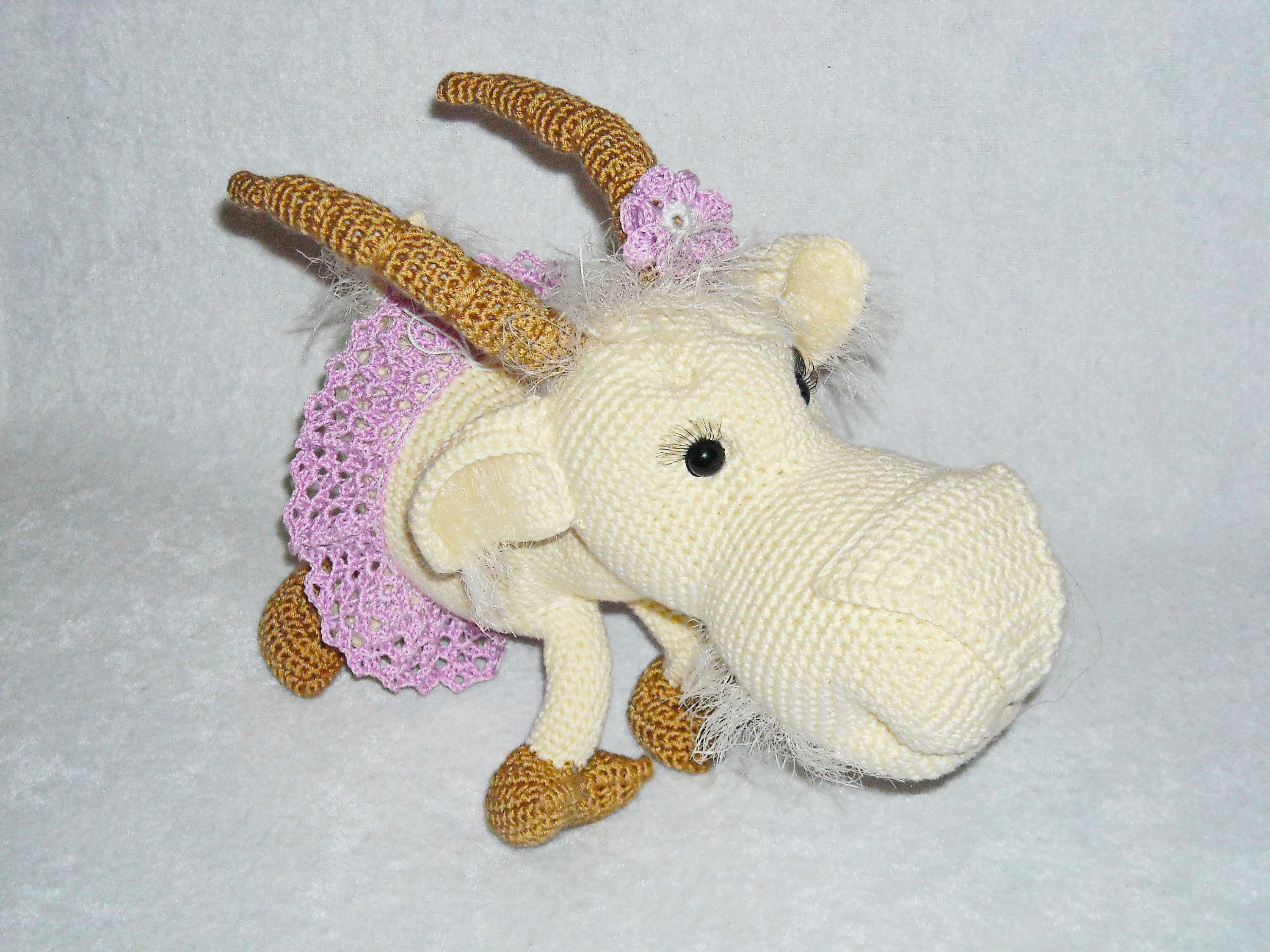 Amigurumi Goat Crochet Goat Stuffed Doll Toy Plush Goat Etsy