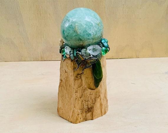 Palo Santo, Fluorite Sphere, Malachite, Prehnite, Epidote, Star Lepidolite, Lunar Moth, Goddess Mary Magdalene, Healing Magic Wand, OOAK