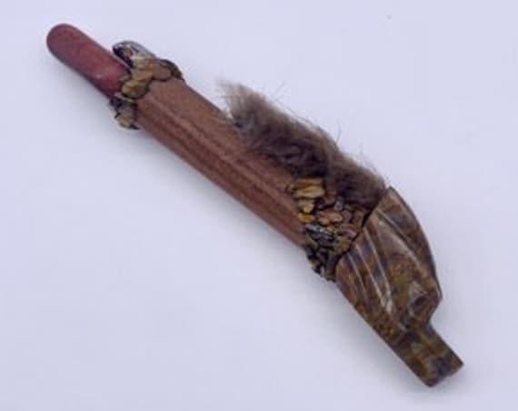 Walnut, Brown Agate Dragon, Tiger Eye, Leopard Jasper, Shamanic Traveling Magic Wand, OOAK, Healing Pendant, Fetish, Talisman, Self-Love