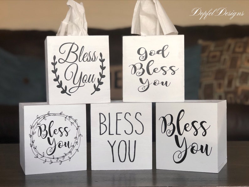 The ORIGINAL & TOP RATED   Farmhouse Style Wooden Tissue Box image 0