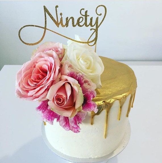 Ninety Cake Topper Assorted Colours 90 Happy