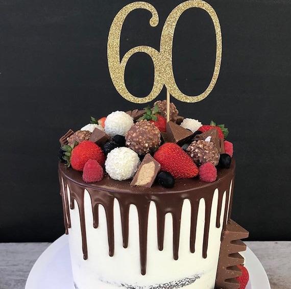 Les nom et âge Jungle Animaux birthday cake topper