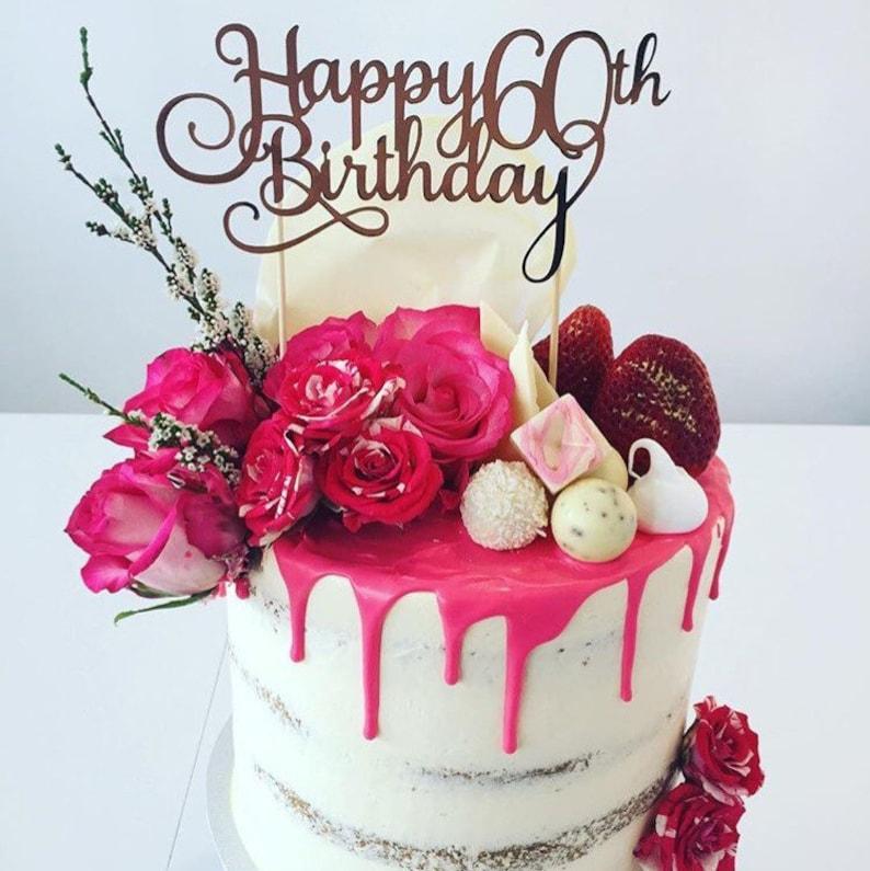Prime Happy Birthday Age Cake Topper Assorted Colours Milestone Etsy Personalised Birthday Cards Epsylily Jamesorg
